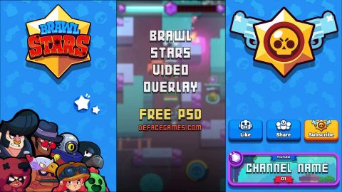 brawl stars video overlay and tileable pattern
