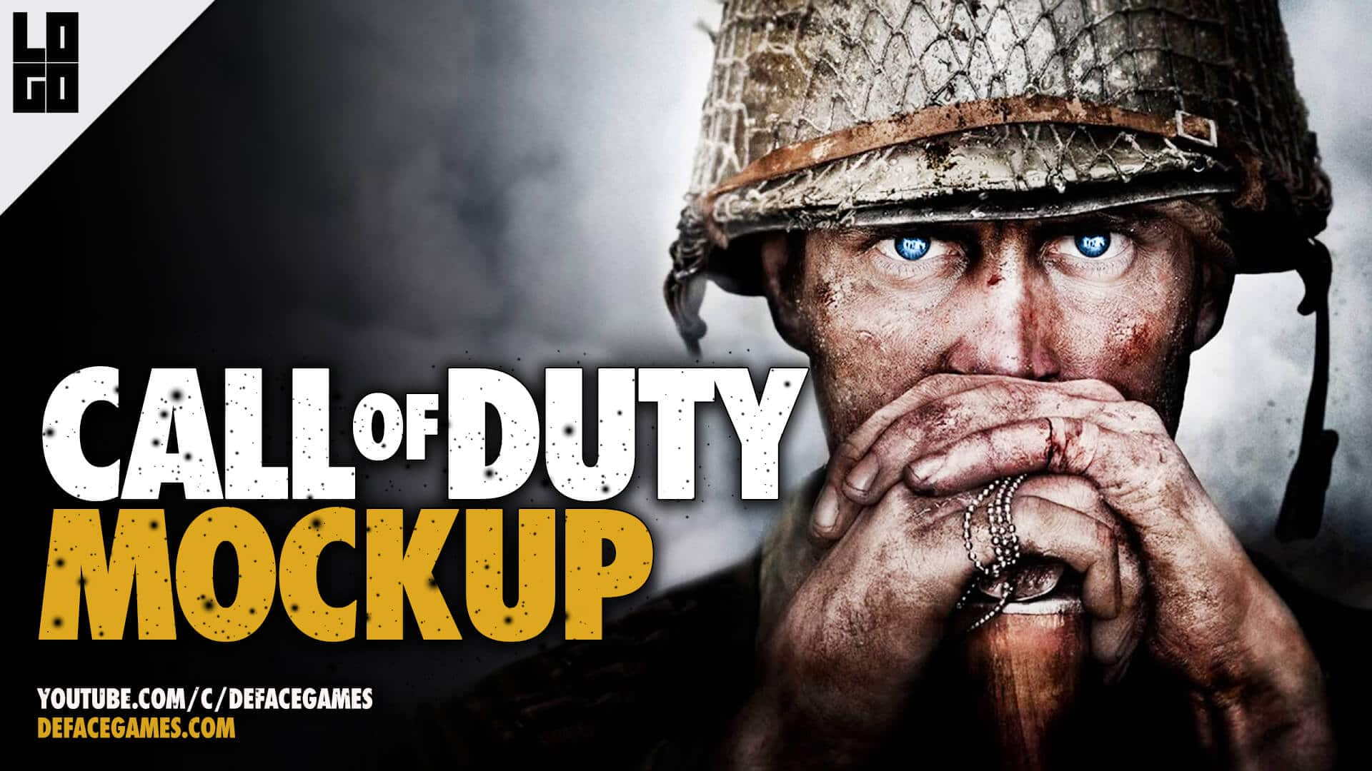 Call Of Duty Ww2 Poster And Thumbnail Psd Freebie Deface Games
