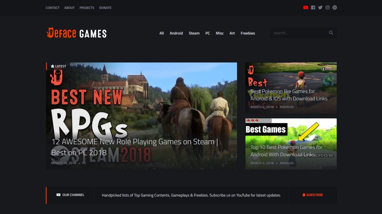 deface games website