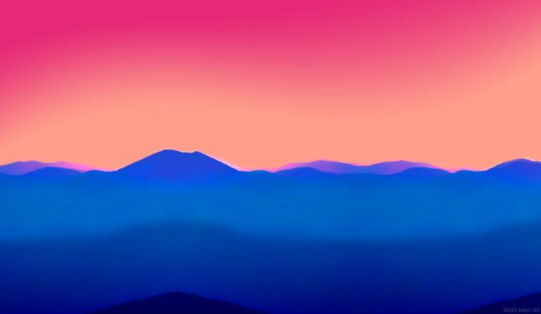 misty mountains landscape